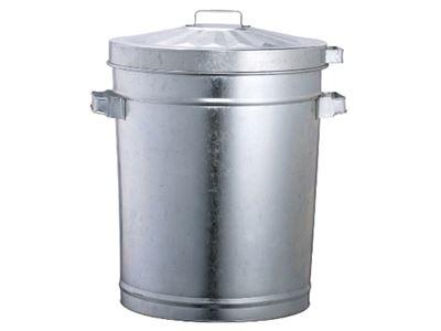 Big Clean Oates Galvanised Garbage Bin
